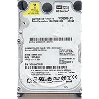 WD800BEVE-00UYT0, DCM FANTJBBB, Western Digital 80GB IDE 2.5 Hard Drive
