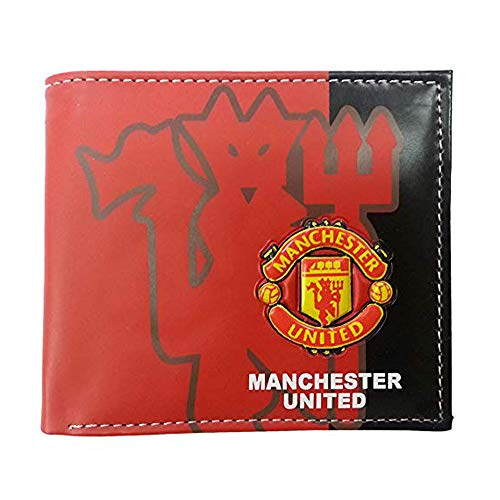 ZQfans Football Club Wallet Soccer Team Logo Printed Wallet Unisex PU Leather Wallets for Football Fans (Manchester United, 4.33