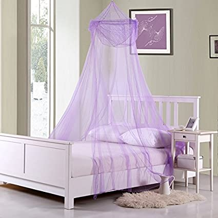 Amazon Com D H Childrens Girls Violet Pretty Princess Purple Canopy