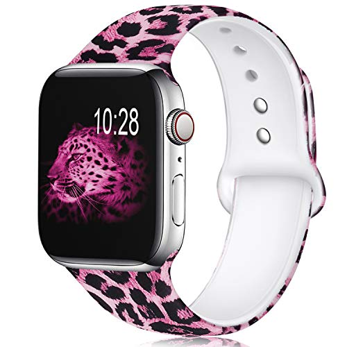 (KOLEK Floral Bands Compatible with Apple Watch 38mm//40mm, Silicone Fadeless Pattern Printed Replacement Bands for iWatch Series 4/3/2/1,)