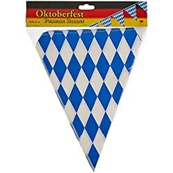 Beistle 50970 Oktoberfest Bavarian Flag Pennant Banner 11 Inches by 12 Feet
