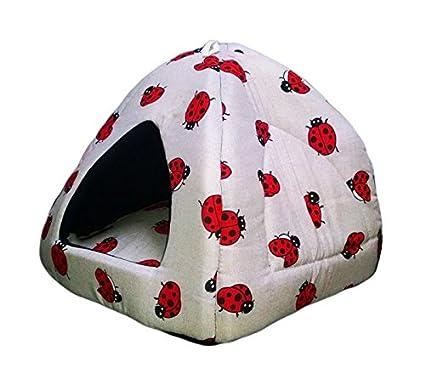 Litera Igloo Lady Bugs-cómodo y suave caseta para perro con Cojín para perros