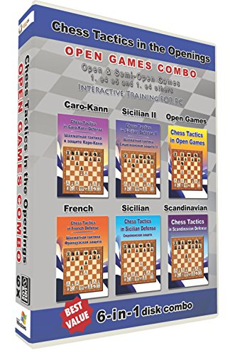 Chess Tactics in the Openings 6-in-1 Combo Open Games (6 (Chess Opening Defense)
