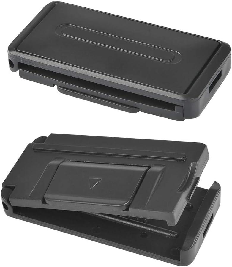 2PCS Black QLOUNI Car Seat Belt Adjuster Seatbelt Limit Clips Buckle Smart Adjust Seat Belts to Relax Shoulder Neck