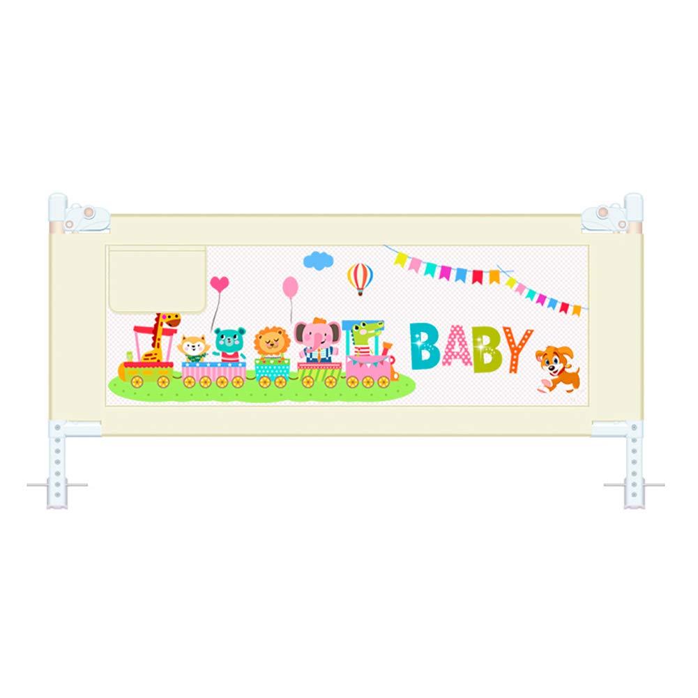 ベッドガードフェンス ベビーベッドのレールベージュ、ベッドガード垂直リフティングShatter-resistantキッズチャイルド幼児安全ベデルロックバックル、1.5/1.8 / 2M、1面 (サイズ さいず : 150cm) 150cm  B07JVJNSWP