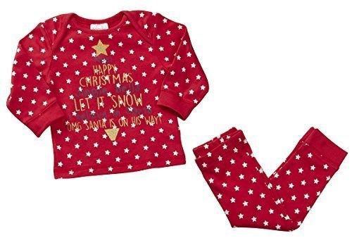 Bebé Niño Pequeño Cascabel Cascabeles Let it Snow Robin Novedad De Navidad Pijama rallas desde 6 a 24 Meses Estrellas