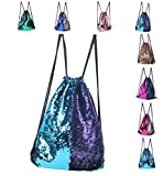 Drawstring Backpac,Waterproof Tote Bags Sackpack for Shopping Yoga Gym Hiking Swimming Travel Beach