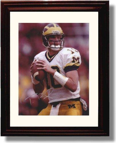 Framed Michigan Wolverines - Quarterback Tom Brady Autograph Print