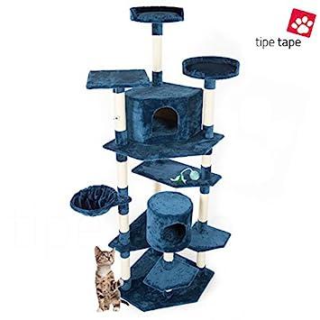 Parque de juegos rascador para gatos, de 203 cm, azul: Amazon.es: Bricolaje y herramientas