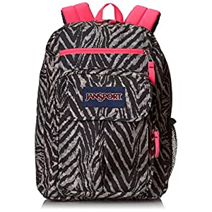 "JanSport Digital Student Backpack - Grey Tar Wild At Heart / 17.5""H x 13""W x 10""D"