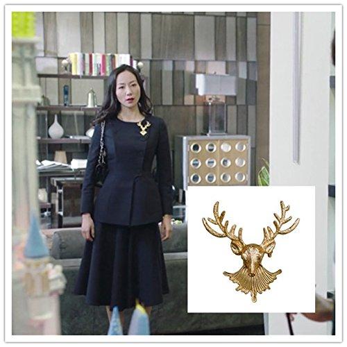 The counter-attack stardom shining Tong Li Yi Song Yi Han Xue kinds Dani  segment Ling Wei same paragraph leader pin brooch elk