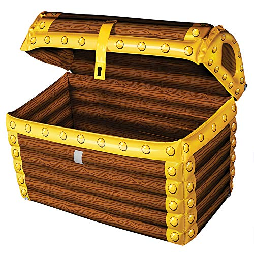 Windy City Novelties Blow Up Inflatable Pirate Treasure Chest Drink Cooler (Ice Chest Unique)