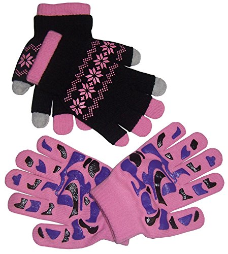 N'Ice Caps Girls Multi Pair Magic Glove And Texter Pack