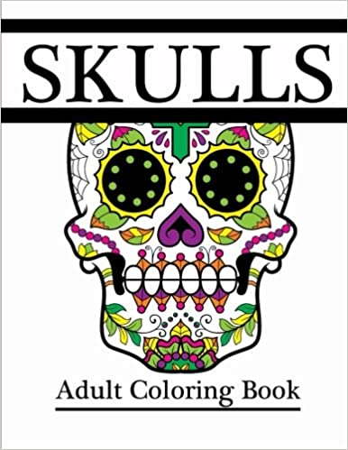 Skulls: Adult Coloring Book