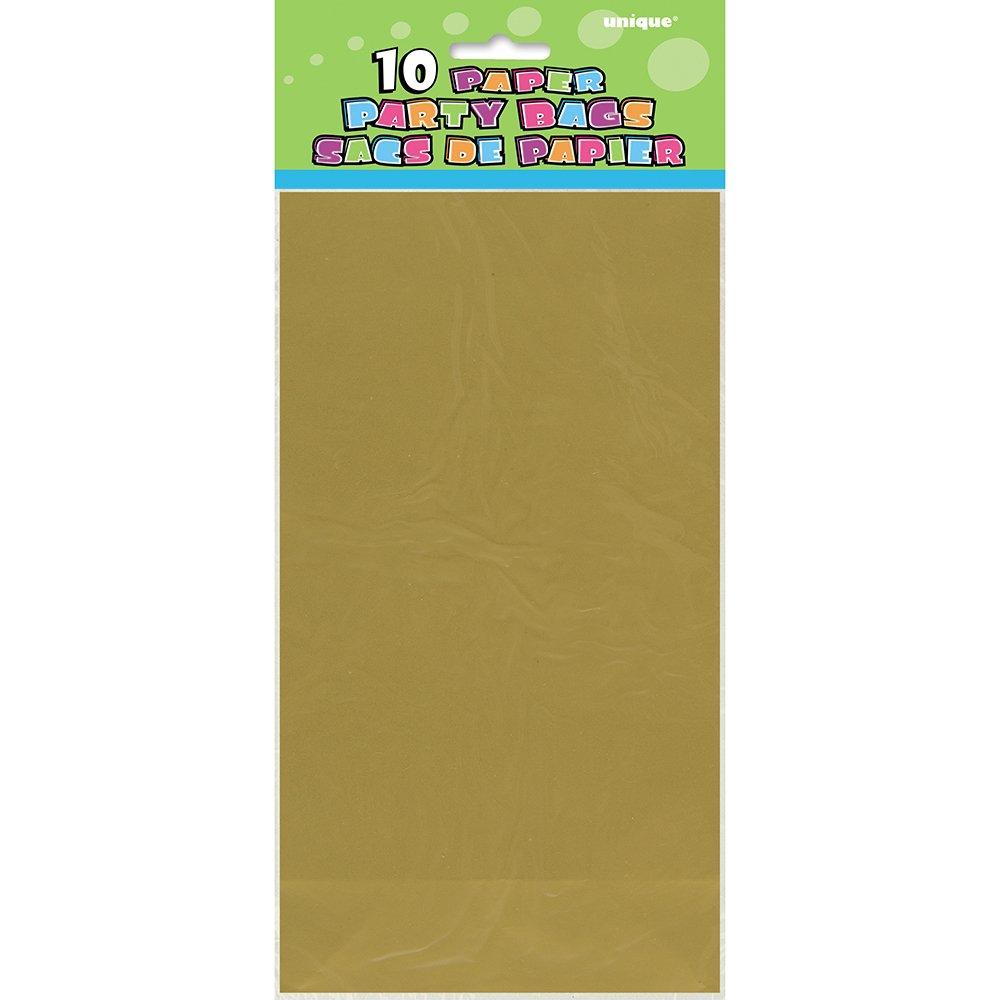 Unique Party Papier Orange 59013 Paquet de 12 Sacs Cadeaux