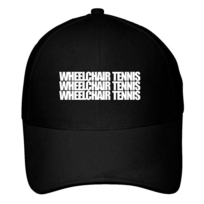 d15b19018e3ac Image Unavailable. Image not available for. Color  Idakoos Wheelchair Tennis  Three Words Baseball Cap Black
