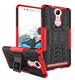 Parallel Universe Lenovo Vibe K5 Note Dual Layer Rugged And Tough Defender Back Cover Case With Built-In Stand - Red