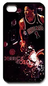 icasepersonalized Personalized Protective Case for iPhone 4/4S - Derrick Rose, NBA Chicago Bulls