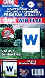 "Chicago Cubs ""W"" PA GARDEN Window Flag Applique Embroidered Banner Baseball"