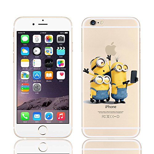 MINIONS TRANSPARENT CLEAR TPU SOFT CASE FOR APPLE IPHONE 7 3 MINIONS 5