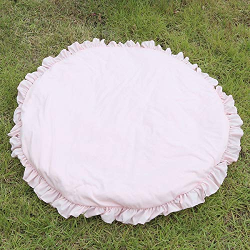 Meadow Rim - Crawling Rug for Princess Baby,Ruffle Rim Round Pad, Home Floor Carpet Meadow Days Super Rug Toy Blanket (Color : Pink)