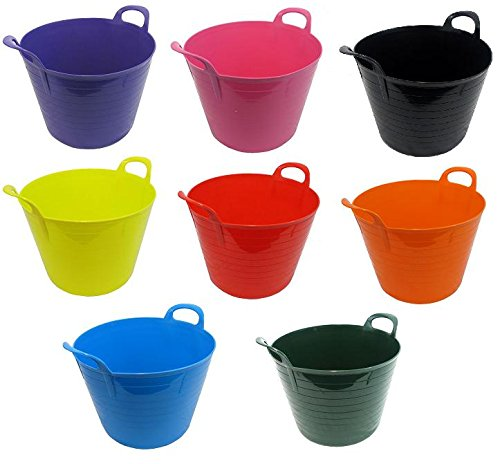 Pack Of 3 40 Litre Garden TrugFlexi TubGorilla Bucketmade in