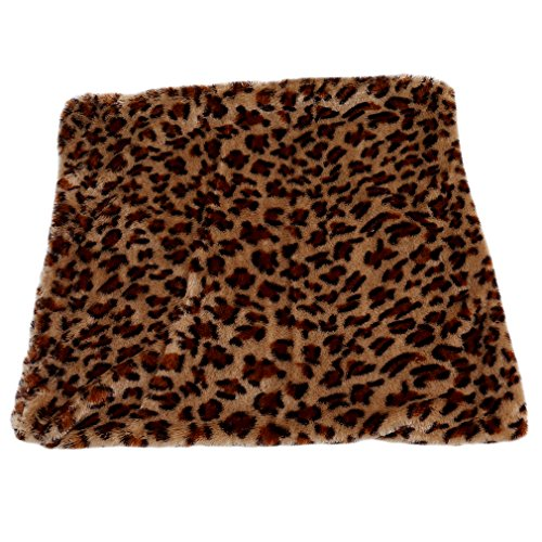 Myhouse Plush Decorative Pillow Case Leopard Print Fur Soft Throw Pillow Cover Cushion (Brown) (Pillows Leopard Print Decorative)
