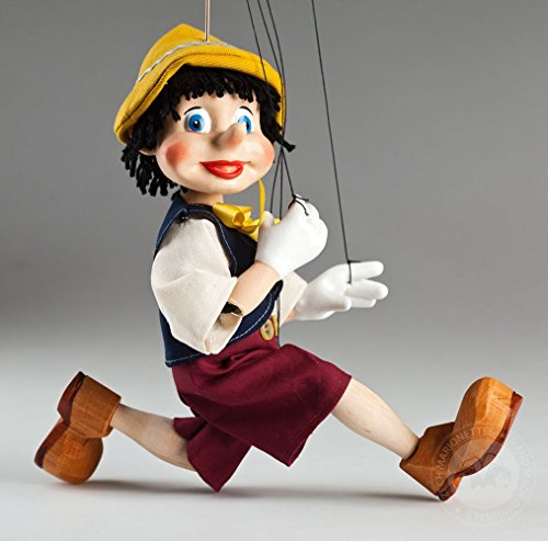 Young Pinocchio Czech Marionette - String Puppet (Pinocchio Marionette)