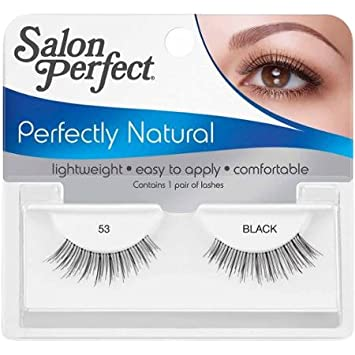 Amazon com : Salon Perfect Perfectly Natural Eyelashes, 53