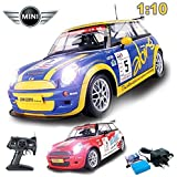Comtechlogic® CM-2141 Official Licensed 1:10 Mini Cooper S Radio Controlled RC Electric Rechargeable Car - Ready To Run EP RTR - BLUE