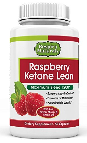 Raspberry Ketones Body Fat Burner Thermogenic Supplement, 60 Capsules With Acai, African Mango & Green Tea Extracts Control Appetite, Boost Metabolism & Achieve Weight Loss