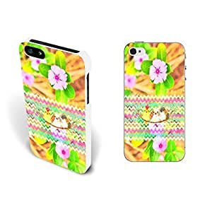 Cute Bird with Colorful Chevron Pattern Design for Case For Iphone 5/5S Cover Hard Plastic Shell Personalized (pink Peach Blossom whites1178)