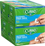 CURAD Alcohol Prep Pad, 2-Ply (Pack of 400)