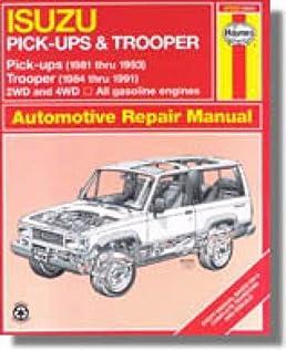 h47020 haynes isuzu trooper pick ups 1981 1993 auto repair manual rh amazon com 1999 Isuzu Trooper Problems 1999 Isuzu Trooper Problems
