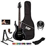 ESP LTD F10KIT-BLK Electric Guitar with 10-Feet Cable, Strap, Stand, Tuner, DVD, ChromaCast Pick Sampler and ESP Gig Bag