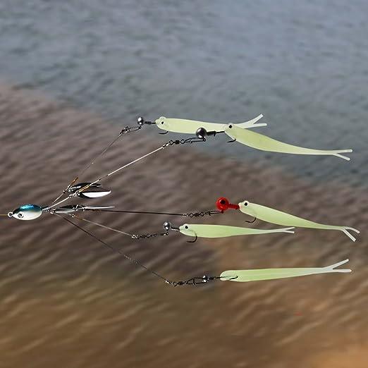 Alabama Trolling Rig Umbrella 4 Blades Freshwater Bass Walleye Fishing Lures Kit