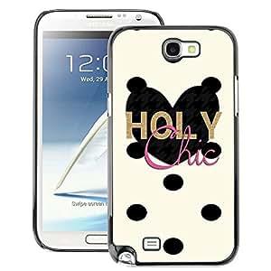 A-type Arte & diseño plástico duro Fundas Cover Cubre Hard Case Cover para Samsung Note 2 N7100 (Chick Dalmatian Polka Dot Heart)