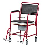 Chaithanya Orthopaedics Fs Steel Commode/Shower Wheel Chair - Detachable Armrest