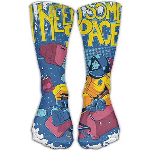 I Need Some Space Women & Men Socks Soccer Sport Tube Stockings Length (Female Football Player Halloween Costumes)