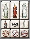 Coca Cola Bottle / Cap History set of 9 Mini Fridge Magnets in...