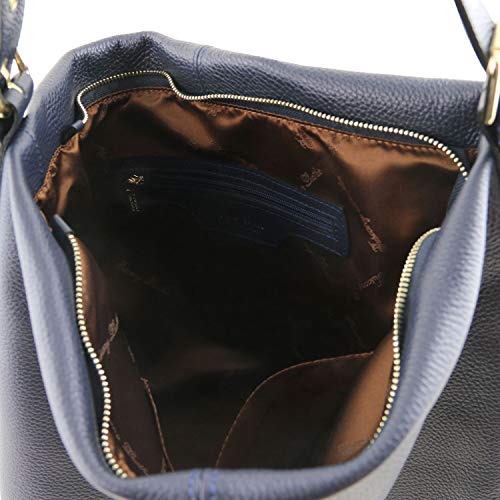 hobo Blue leather Leather Soft Tuscany Red bag TLBag Dark wq1aAI