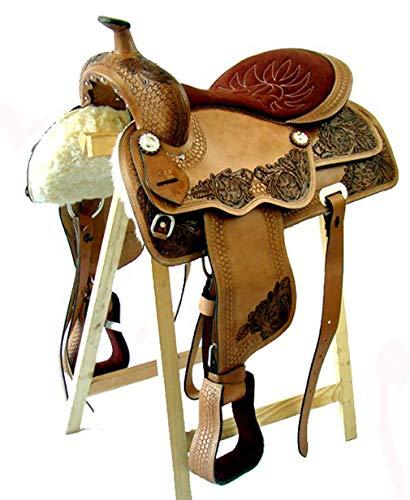 17 Zoll Western Saddle Dallas Buffalo Leather New