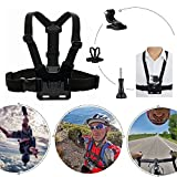 VVHOOY-3-in-1-Universal-Waterproof-Action-Camera-Accessories-Bundle-Kit-Head-Strap-MountChest-HarnessSelfie-stick-for-Sports-Action-Camera