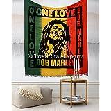 Bob Marley Wall Tapestry, Bohemian Bedding Queen, Large Hippie Dorm Decor, Indian Wall Hanging, Boho Beach Throw, Gypsy Picnic Blanket