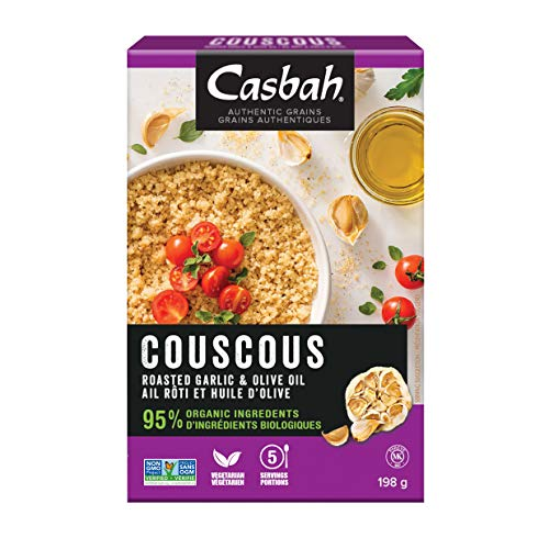 Casbah Couscous, Organic Roasted Garlic & Olive Oil, 7 Ounce (Pack of 12)