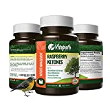 Raspberry Ketones 1200mg For Maximum Fast Weight Loss, Appetitie Suppressant, 100% All Natural with African Mango, Green Tea Extract & More, 60 Count, By VitaPath