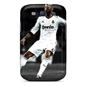 Galaxy S3 Hard Back With Bumper Silicone Gel Tpu Case Cover Real Madrid Sergio Ramos Dribbling