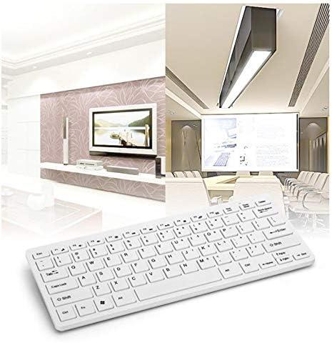NQI Ensemble Clavier et Souris sans Fil, Mini Jeu d'ordinateur Design Ultra-Mince Souris et Clavier sans Fil ordinaires légers-White