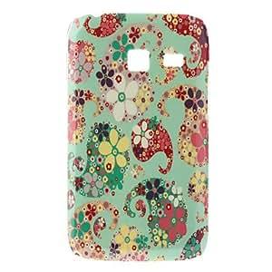 Flor Caso duro del patrón de colores para Samsung I6102