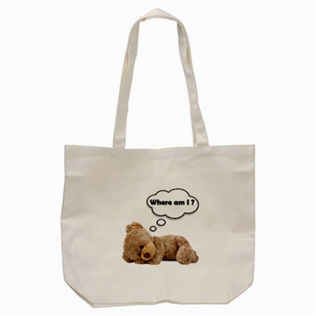 Teddy Bear ' Where Am I 'トートバッグ(クリーム) B00QGZYHKW